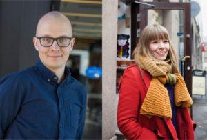 Kulttuurintutkimus-lehden uudet päätoimittajat Juhana Venäläinen ja Hanna Kuusela