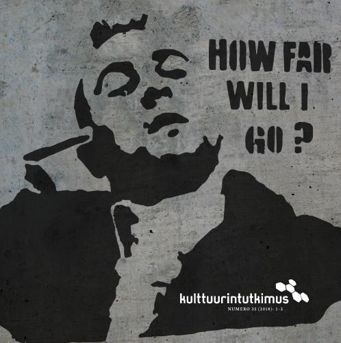 """Kansikuva: Berliiniläinen muraali Robert de Nirosta Travis Bicklenä ja teksti """"How far will I go?""""."""