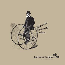 Lehden kansi, jossa piirroskuva pyöräilevästä miehestä